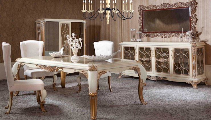 LUXURY LINE FURNITURE ComedorSillas y banquetas Madera Blanco
