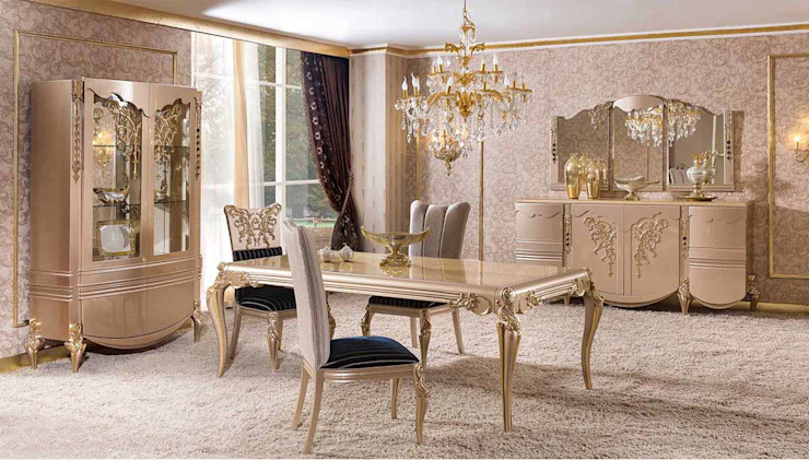 LUXURY LINE FURNITURE Dining roomChairs & benches Kayu Amber/Gold