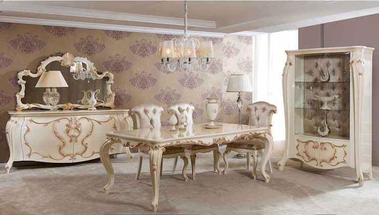 LUXURY LINE FURNITURE ComedorSillas y banquetas Madera Beige