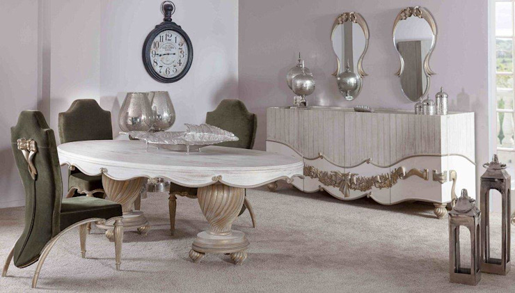 LUXURY LINE FURNITURE Dining roomChairs & benches Kayu Metallic/Silver