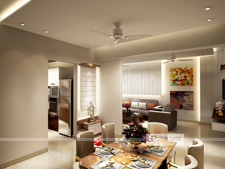 Residence at Dwarka Modern dining room by Design Essentials Modern