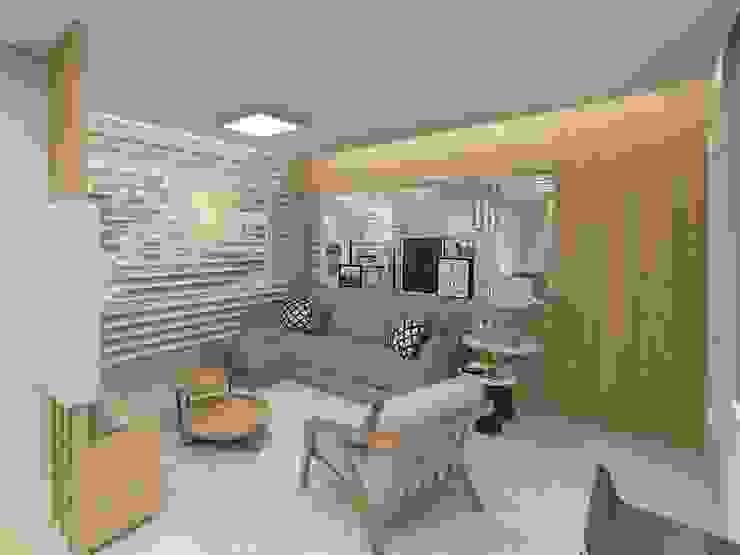 Living room by Letícia Saldanha Arquitetura