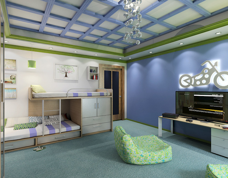 Boys' Bedroom Modern Bedroom by Ravenor's Design Solutions Modern