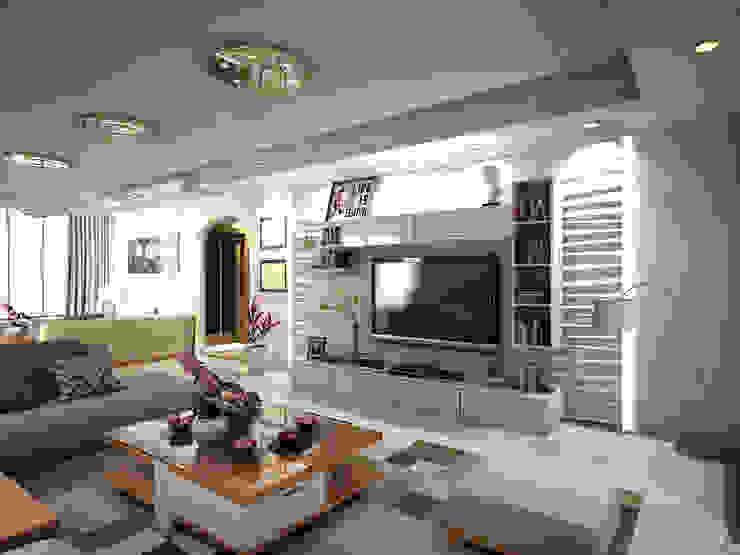 Family Area Modern Living Room by Ravenor's Design Solutions Modern