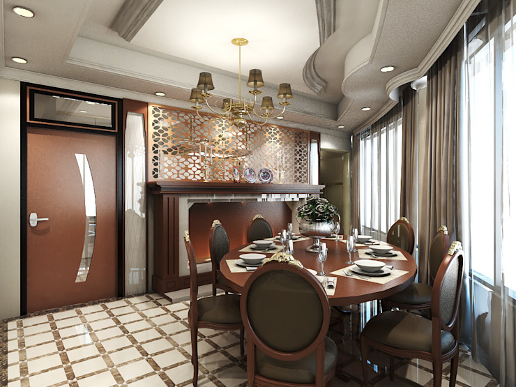 Dining Area (+ Access to Kitchen) Modern Dining Room by Ravenor's Design Solutions Modern