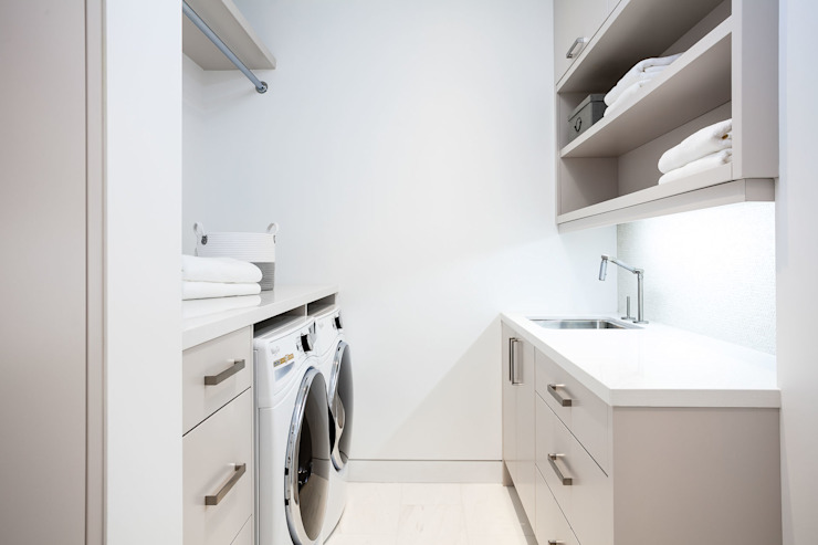 Laundry Room Modern Corridor, Hallway and Staircase by Frahm Interiors Modern