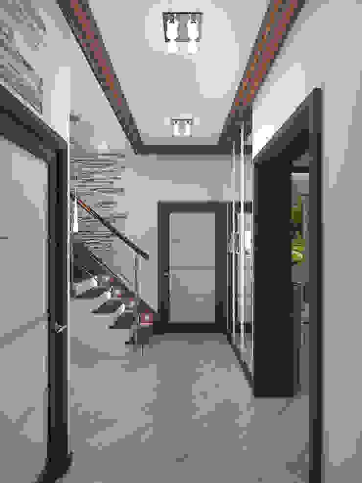 Minimalist corridor, hallway & stairs by ИП Поварова Татьяна Владимировна Minimalist