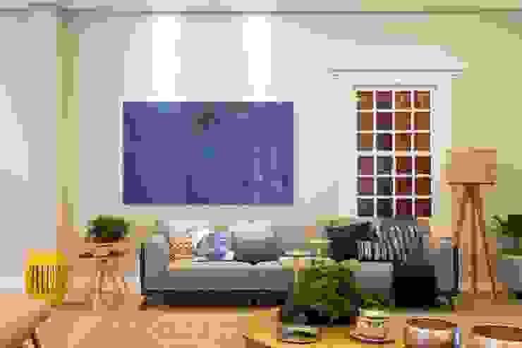 GP STUDIO DESIGN DE INTERIORES Modern living room MDF Blue