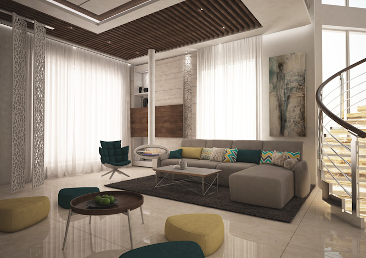 Private Villa Modern Living Room by dal design office Modern