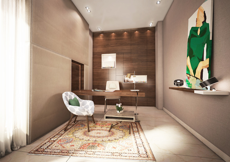 Private Villa Modern Study Room and Home Office by dal design office Modern
