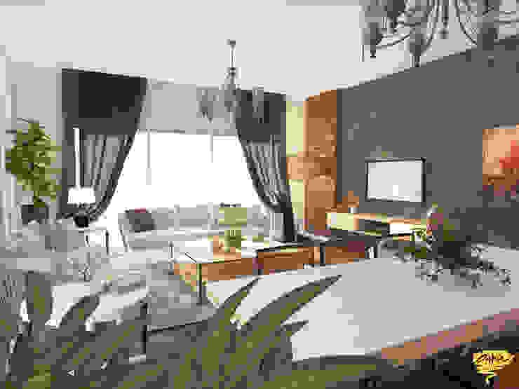 Özel projelendirme Modern Oturma Odası Öykü İç Mimarlık Modern