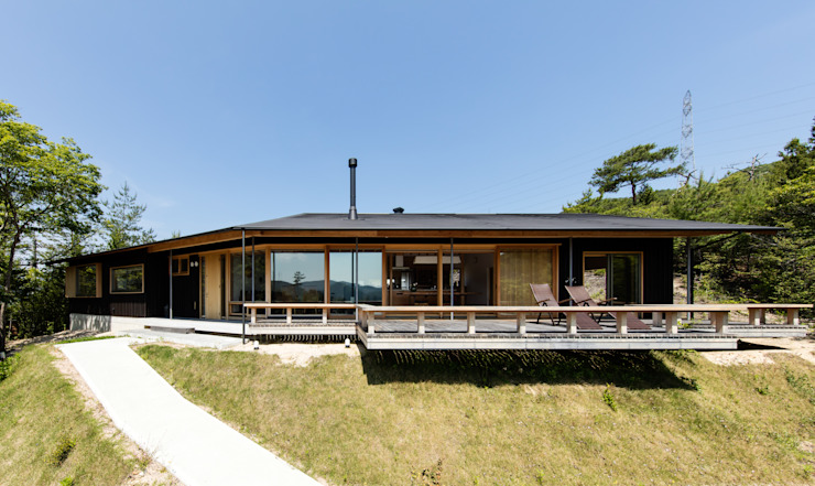 神家昭雄建築研究室 Wooden houses Wood Brown