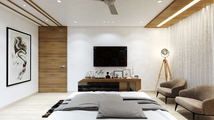 master room3 Minimalist bedroom by quite design Minimalist