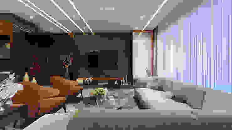 living area1 Minimalist living room by quite design Minimalist
