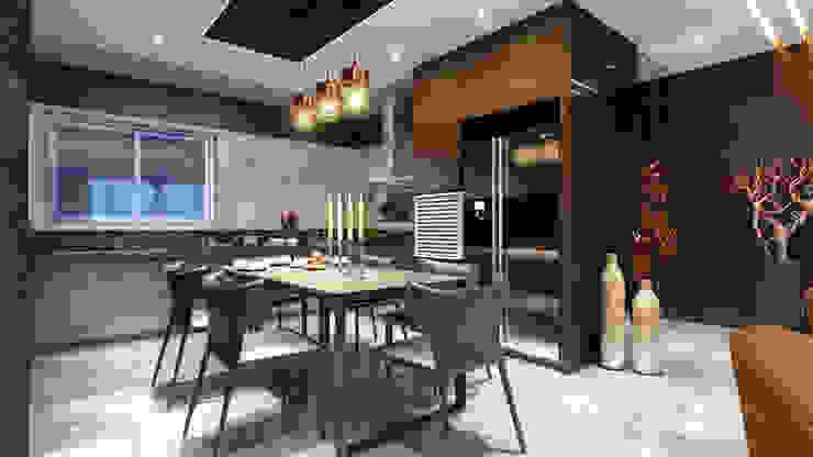 kitchen area Minimalist kitchen by quite design Minimalist