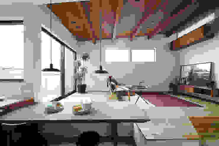 狭小地に建つ家 / zuiun モダンデザインの リビング の zuiun建築設計事務所 / 株式会社 ZUIUN モダン