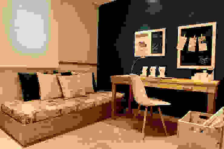 Dormitório solteiro SP Arquitetos Quartos ecléticos