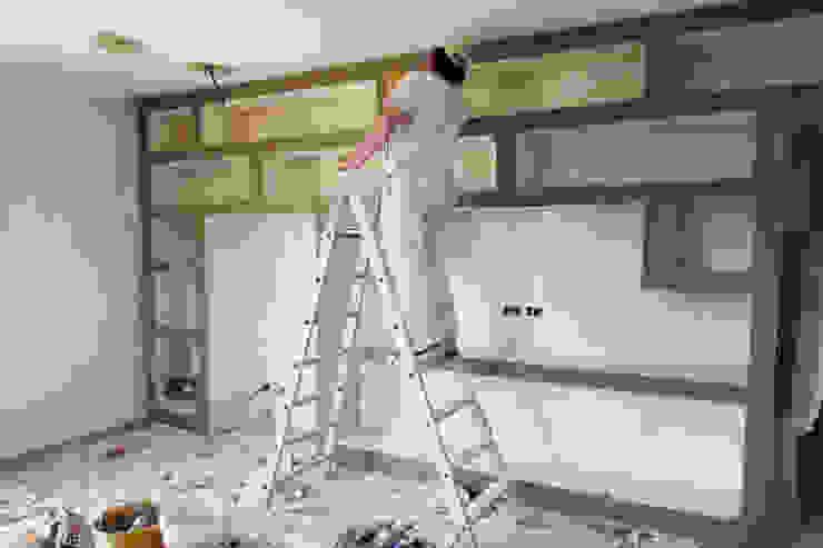 La realizzazione di una libreria in cartongesso for Immagini di pareti in cartongesso