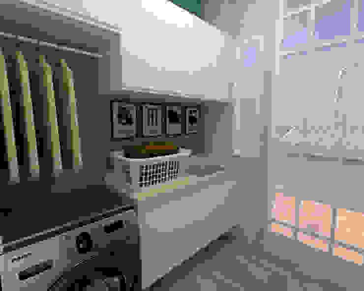 IMAGEM LAVANDERIA 01 Dayane Medeiro Arquitetura e Interiores Cozinhas tropicais