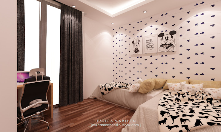 Modern style bedroom by JESSICA DESIGN STUDIO Modern