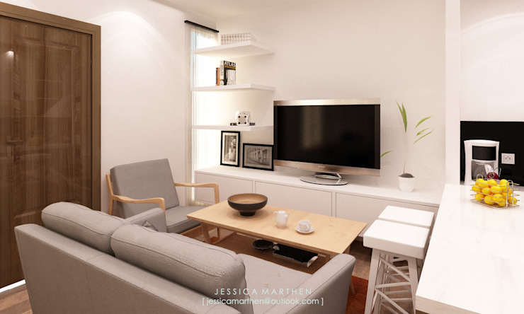 Azzura Home Modern Living Room by JESSICA DESIGN STUDIO Modern