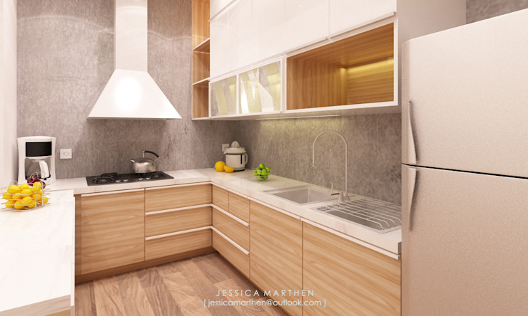 Azzura Home Modern Kitchen by JESSICA DESIGN STUDIO Modern