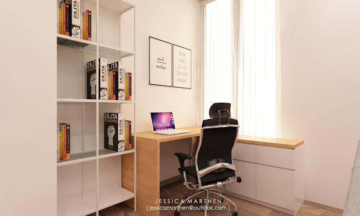 Azzura Home Modern Study Room and Home Office by JESSICA DESIGN STUDIO Modern