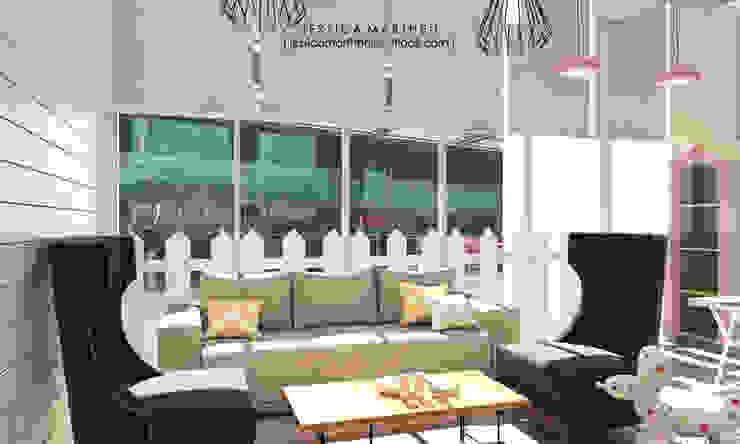 JESSICA DESIGN STUDIO Salones de estilo escandinavo