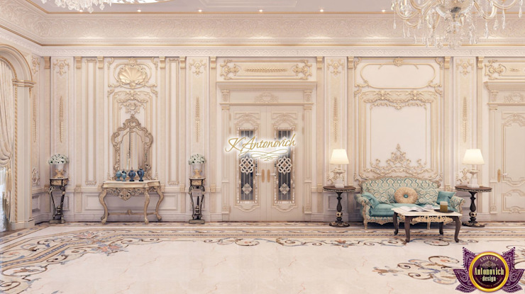 The art of luxury and comfort from Katrina Antonovich Classic style corridor, hallway and stairs by Luxury Antonovich Design Classic