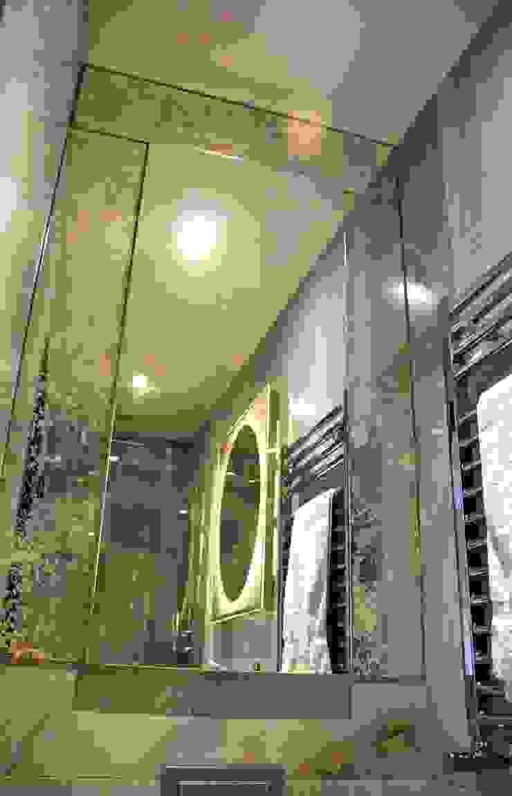 Bespoke Antiqued Mirror Alguacil & Perkoff Ltd. BathroomMirrors Glass