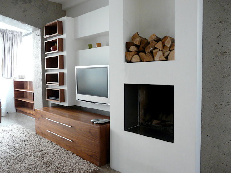 various interior projects Moderne woonkamers van Lozinski Architecten Modern