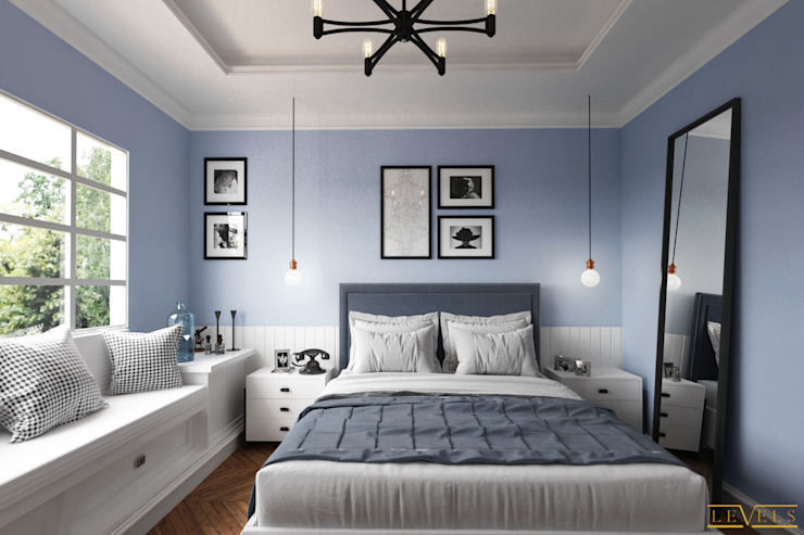 Spaces Eclectic style bedroom by Levels Studio Eclectic