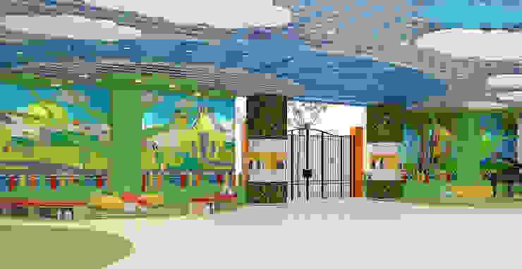 THIẾT KẾ NỘI THẤT TRƯỜNG HỌC 20 – 10 HÀ NỘI Phòng học/văn phòng phong cách hiện đại bởi công ty cổ phần xây dựng và nội thất BMC Hiện đại