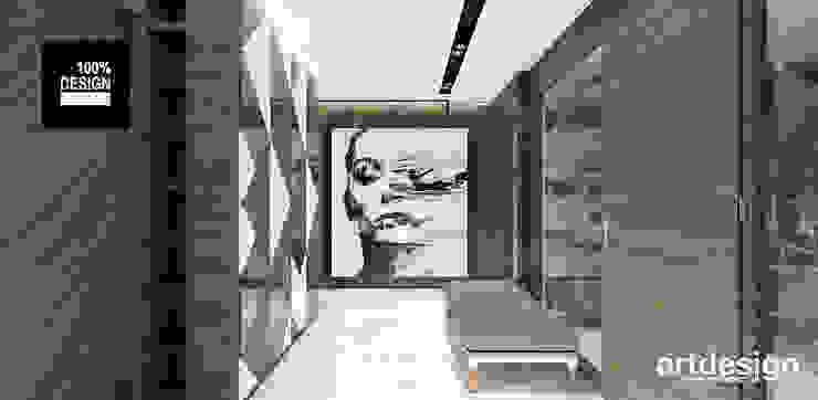 Pasillos y vestíbulos de estilo  por ARTDESIGN architektura wnętrz, Moderno