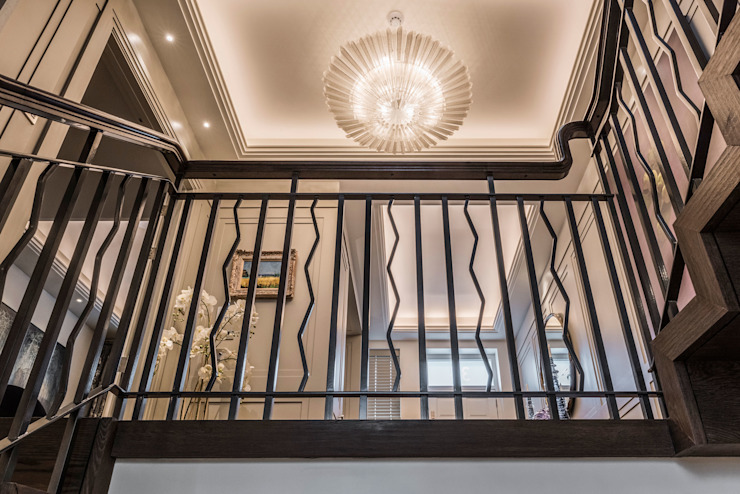Handrail Detail RBD Architecture & Interiors Classic style corridor, hallway and stairs Wood