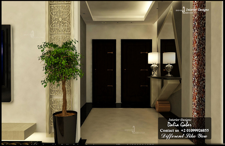 Eclectic style corridor, hallway & stairs by DeZign center office by Dalia Gaber Eclectic
