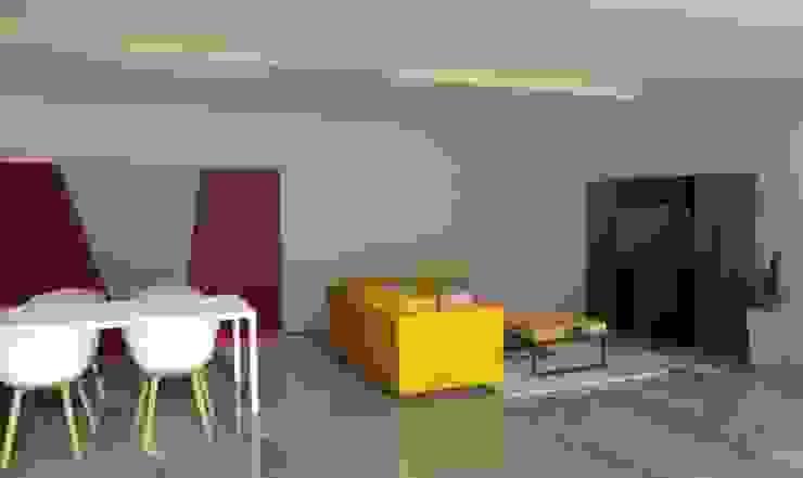 Vivienda Unifamiliar Modern Living Room by JOM Diseño de Espacios Modern Ceramic