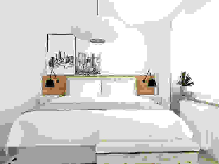 Skandinavische Schlafzimmer von Interior Idea Projektowanie Wnętrz Skandinavisch Holz Holznachbildung