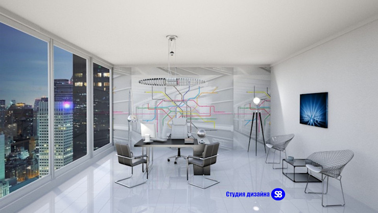 Office in Hi-Tech style by 'Design studio S-8' Modern