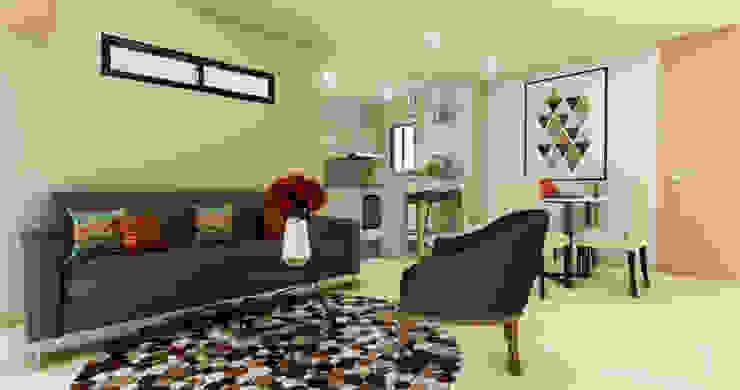 Sala de DIKTURE Arquitectura + Diseño Interior Moderno