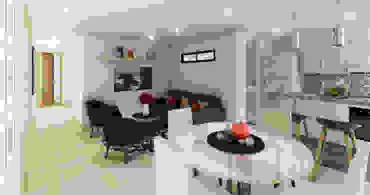 Sala - Comedor de DIKTURE Arquitectura + Diseño Interior Moderno