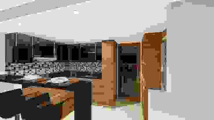 DISEÑO - MOBILIARIO COCINA de DIKTURE Arquitectura + Diseño Interior Moderno