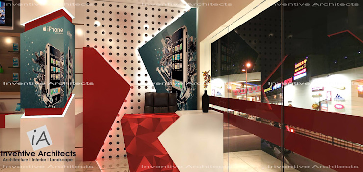 Mobile Store Modern offices & stores by Inventivearchitects Modern Plywood