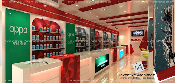 Mobile Store Modern offices & stores by Inventivearchitects Modern
