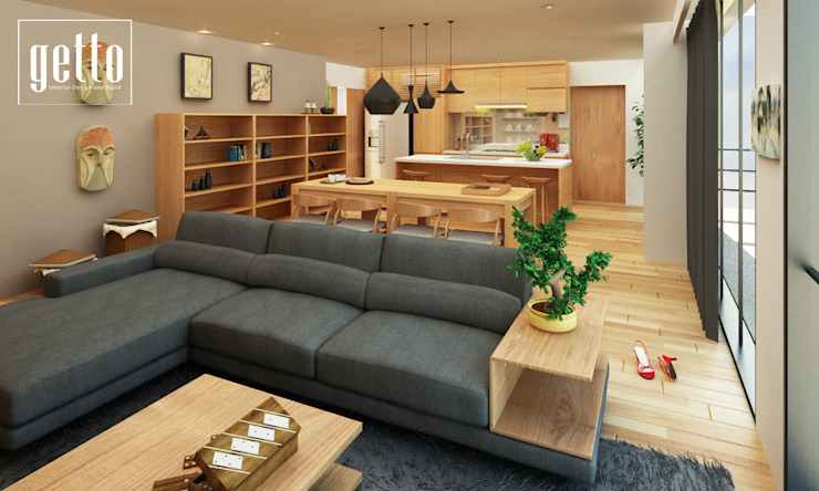 Mr. Arbianto Apartment Ruang Olahraga Gaya Asia Oleh Getto_id Asia Kayu Lapis