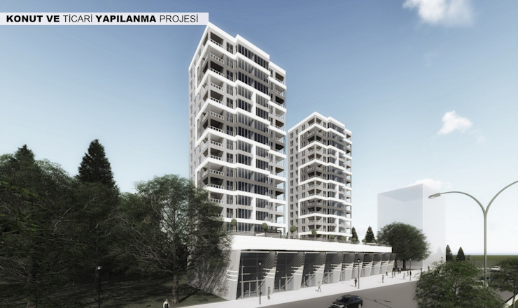 MEKATRONİK KONUT PROJESİ Neon Mimarlık Modern Aluminyum/Çinko