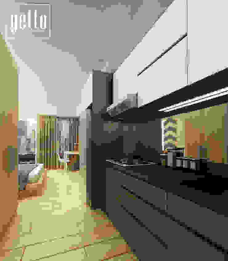 Alliz Apartment Oleh Getto_id Modern Kayu Lapis