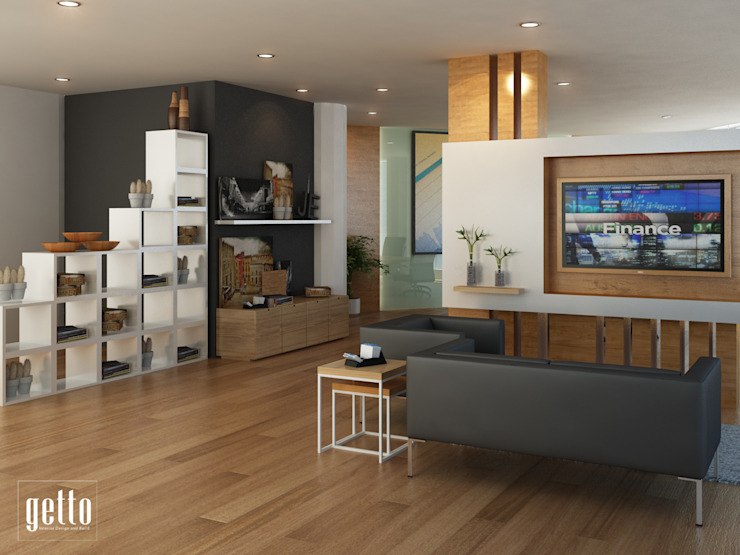 Paramount Office :modern  oleh Getto_id, Modern Kayu Lapis