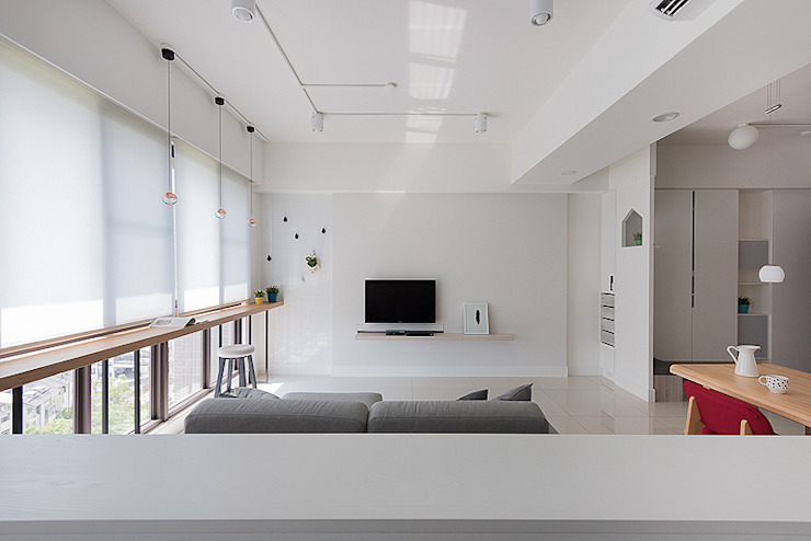 倍果設計有限公司 Scandinavian style living room White