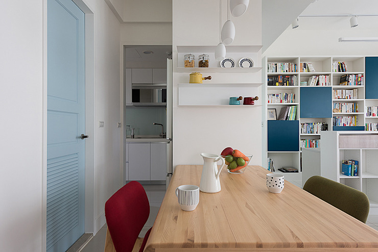 倍果設計有限公司 Scandinavian style dining room White